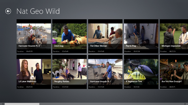 View all videos of Nat Geo Wild TV Channel and its duration.