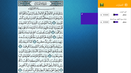 Quran Explorer Settings Flyout