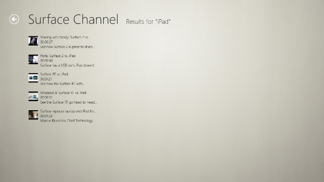 Search in Surface Channel videos.