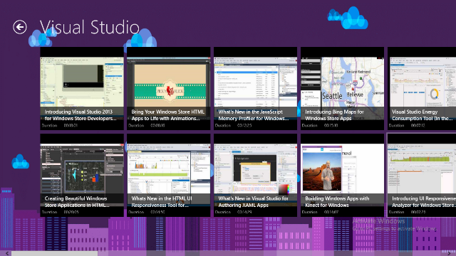 View all videos of Visual Studio Channel and its duration.
