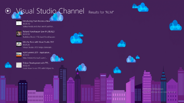 Search in Visual Studio Channel videos.