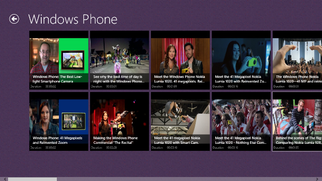 View all videos of Windows Phone Channel and its duration.